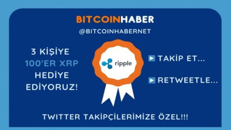 Bitcoinhaber.net'ten 300 Ripple (XRP) Hediye!