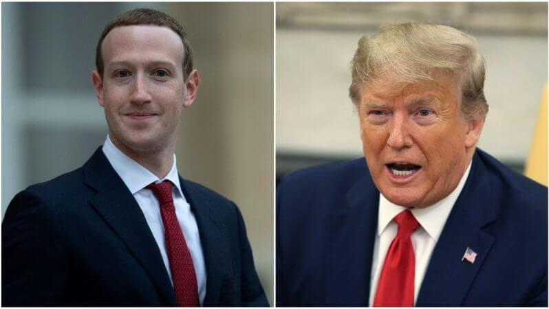 Trump ve Zuckerberg Aylar Önce Gizli Bir Yemek Yedi!