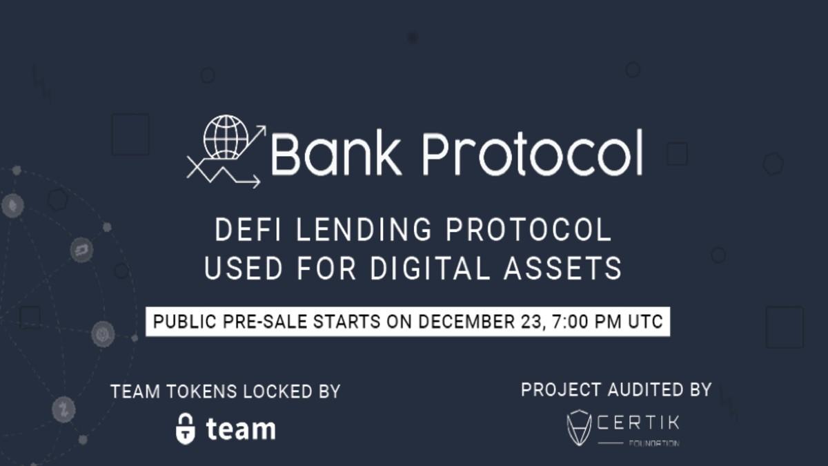 """Kripto Para Sektörü İçin """"Hepsi Bir Arada"""" DeFi Lending Platformu Bank Protocol İle Tanışın"""
